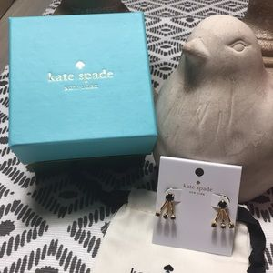 Kate Spade ear jacket earrings - NIB & Pouch